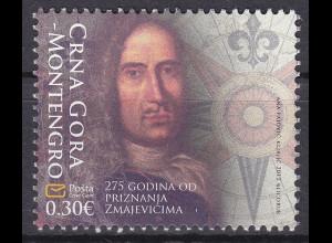Montenegro 2012, Michel Nr. 295 **, 275. J. der Anerkennung von Matija Zmajević