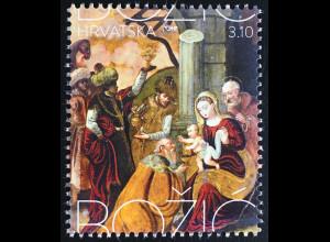 Kroatien Croatia 2016 Nr. 1251 Weihnachten Gemälde Maria Josef Jesuskind Könige