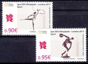 Montenegro 2012, Michel Nr. 302-03 **, Olympische Sommerspiele, London