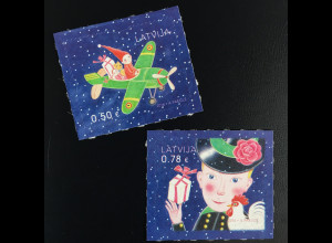 Lettland Latvia 2016 Michel Nr. 1004-05 Weihnachten Schornsteinfeger Spielzeug