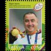 Lettland Latvia 2016 Block 39 Medaillengewinner Paralympische Spiele in Rio