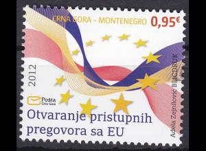 Montenegro 2012, Michel Nr. 305**, Eröffnung der Beitrittsverhandlung mit der EU