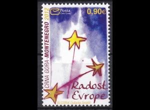 """Montenegro 2012, Michel Nr. 312 **, Europäisches Kindertreffen """"Freude Europas"""""""