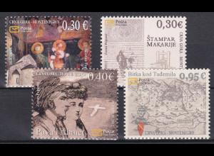 Montenegro 2012, Michel Nr. 313-15 **, Historisches Erbe (III)