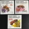 Zypern türkisch Cyprus Turkish 2016 Nr. 833-35 Bienen Tiere Insekten Hautflügler