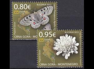 Montenegro 2013, Michel Nr. 326-27 **, Fauna und Flora