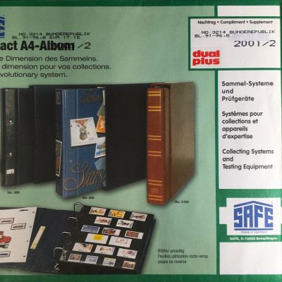Safe dual plus Nachtrag Bundesrepublik Deutschland 2001/2 2.Teil