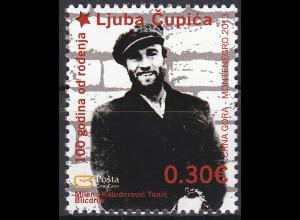 Montenegro 2013, Michel Nr. 338 **, 100. Geburtstag von Ljubo-Čupić