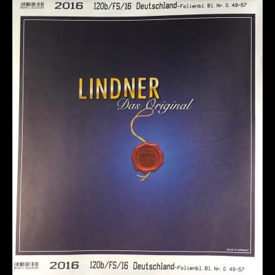 Lindner Nachtrag Bundesrepublik Deutschland 2016 Folienblätter T 120 b/FS