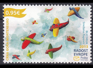 """Montenegro 2013, Michel Nr. 339 **, Europäisches Kindertreffen """"Freude Europas"""""""