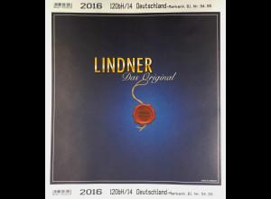 Lindner Nachtrag Bundesrepublik Deutschland 2016 Markenheftchen T 120 b/H