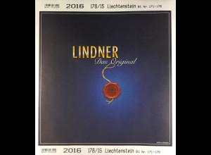 Lindner Nachtrag Liechtenstein 2016 Blatt 171-176 Vordruck T 178
