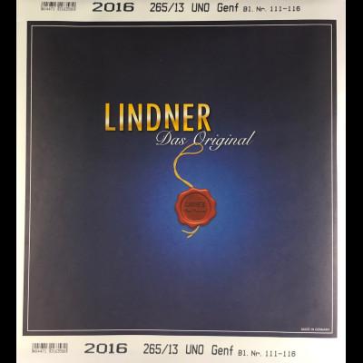 Lindner Nachtrag UNO Genf 2016 Blatt 111-116 Vordruck T 265