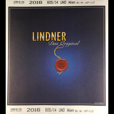 Lindner Nachtrag UNO Wien 2016 Blatt 107-113 Vordruck T 605