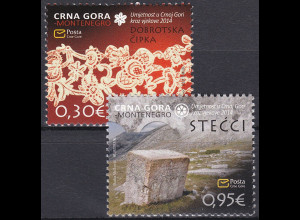 Montenegro 2014, Michel Nr. 343-34 **, Kunst durch die Jahrhunderte (VII)