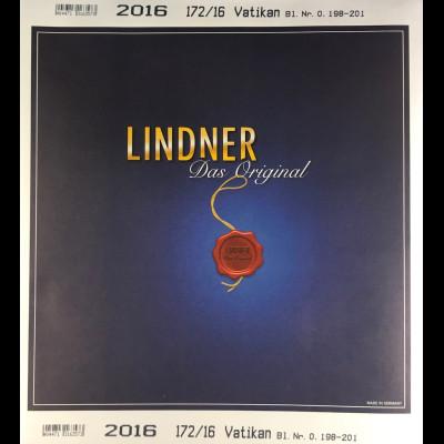 Lindner Nachtrag Vatikan 2016 Blatt 0, 198-201 Vordruck T 172
