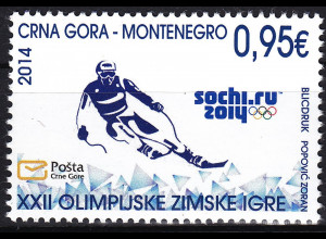 Montenegro 2014 Michel Nr. 345 Olympische Winterspiele Sotschi
