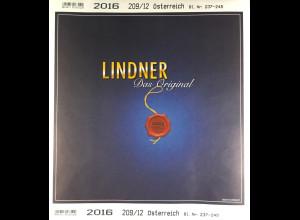 Lindner Nachtrag Österreich 2016 Blatt 237-245 Vordruck T 209