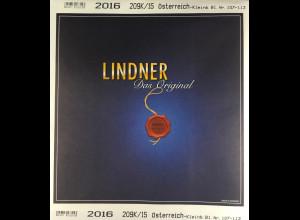 Lindner Nachtrag Österreich Kleinbögen 2016 Blatt 107-113 Vordruck T 209K