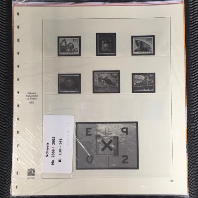 Schweiz Safe dual 2366 Nachtrag vom Jahr 2002 Blatt 138-141