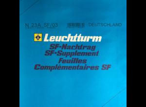 Leuchtturm SF Nachtrag Bundesrepublik Deutschland vom Jahr 2003