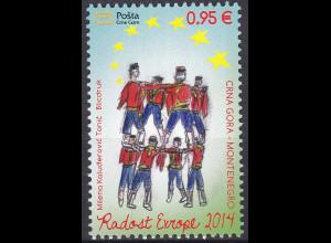 """Montenegro 2014, Michel Nr. 359 **, Europäisches Kindertreffen """"Freude Europas"""""""