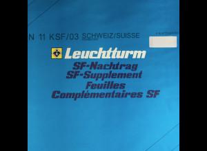 Leuchtturm SF Nachtrag Schweiz Suisse Kleinbogen vom Jahr 2003