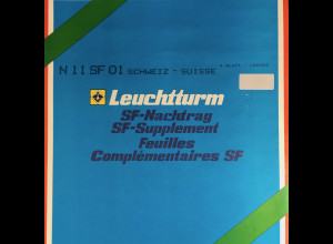 Leuchtturm SF Nachtrag Schweiz Suisse vom Jahr 2001