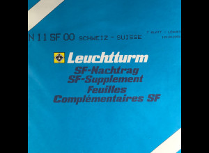 Leuchtturm SF Nachtrag Schweiz Suisse vom Jahr 2000