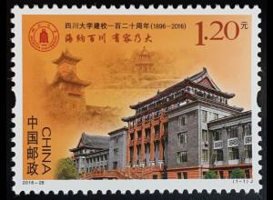 VR China 2016 Nr. 4838 120. Jahrestag Sichuan Universität Bildung Wissenschaft