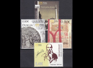 Montenegro 2010 Michel Nr. 250-53 Historisches Erbe