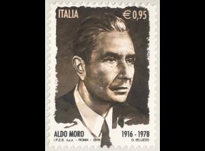 Italien Italy 2016 Michel Nr. 3935 100. Geburtstag von Aldo Moro Politiker