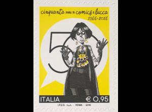 Italien Italy 2016 Michel Nr. 3949 50 Jahre Lucca-Comicmesse Zeitschriften Kunst