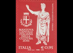 Italien Italy 2016 Michel Nr 3943 Mantua - Kulturhauptstadt Italiens Vergil