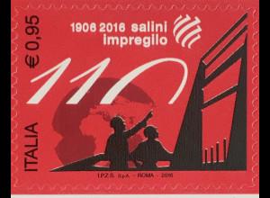 Italien Italy 2016 Michel Nr. 3937 Spitzenprodukte Salini-Impregilo-Gruppe
