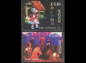 Kosovo 2016 Nr. 361-62 Puppentheater Puppenspiel Darstellende Kunst Marionetten