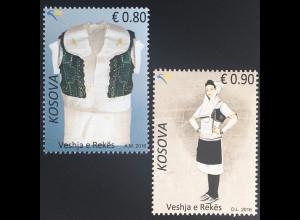 Kosovo 2016 Nr. 356-57 Traditionelle Kostüme aus Reka Kleidung Tracht Volkstum