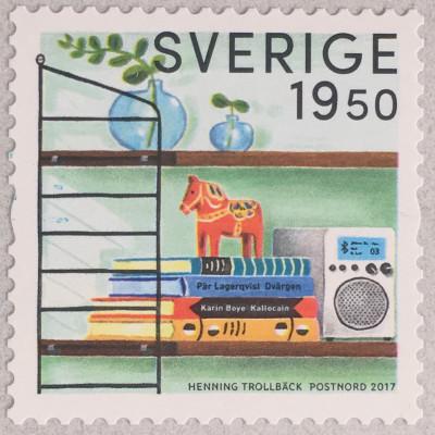 Schweden Sverige 2017 Nr. 3157 Retro Modewelle Inhalt rückwärts orientiert