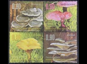 Bosnien Herzegowina Serbische Republik 2016 Nr. 698-701 Pilze Mykologie Fungi