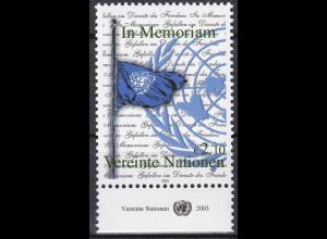 Vereinte Nationen UNO Wien 2003 Nr. 405 Gedenken der im Dienste Gefallenen