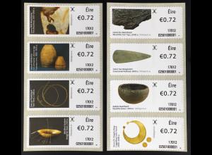 Irland 2017 Michel Nr. 83-90 Automatenmarken Geschichte Irlands in 100 Objekten