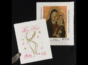 Italien Italy 2016 Michel Nr. 3965-66 Weihnachten Madonna mit Kind Gemälde