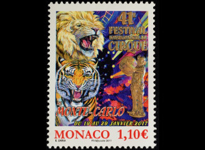 Monako Monaco 2017 Michel Nr. 3320 Internationales Zirkusfestival Monte Carlo