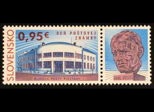 Slowakei Slovakia 2016 Nr. 807 Tag der Briefmarke Postgebäude in Piestany