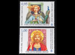 Vatikan Cittá del Vaticano 2016 Michel Nr. 1883-84 Heiliges Jahr Barmherzigkeit