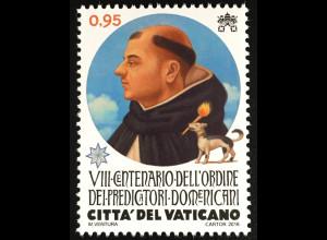 Vatikan Cittá del Vaticano 2016 Michel Nr. 1888 800 Jahre Dominikanerorden