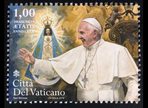 Vatikan Cittá del Vaticano 2016 Michel Nr. 1887 Geburtstag von Papst Franziskus