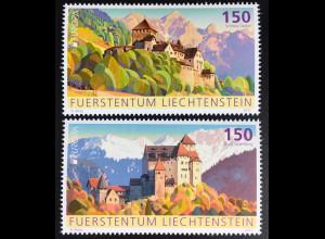 Liechtenstein 2017 Nr. 1839-40 Europa Burgen und Schlösser Schloss Vaduz