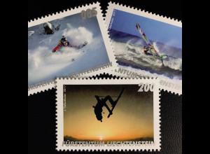 Liechtenstein 2017 Michel Nr. 1841-43 Outdoor Sport Windsurf Fotoclubs Spectral