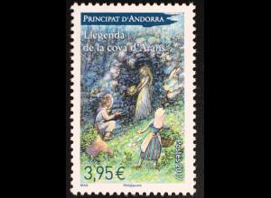 Andorra französisch 2017 Michel Nr. 813 Sagen und Legenden Höhle von Arans